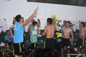 Guaraní celebrate their victory last year against Petrolero - Photo: Prensa Club Guaraní