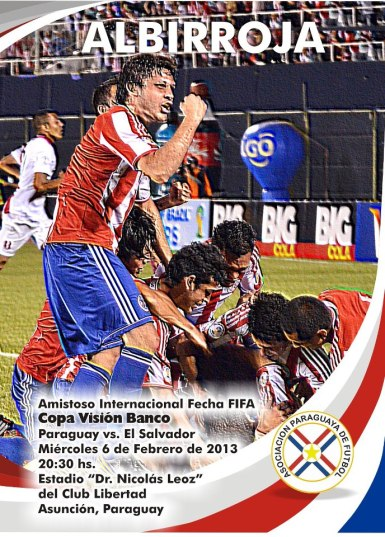 Paraguay and El Salvador dispute the much sought after 'Copa Vision Banco' -  Photo: Prensa Selección Paraguaya de Fútbol