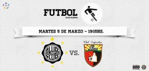 Olimpia promote tonight's match - Photo: Club Olimpia