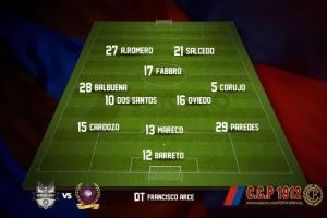 The Cerro team to play Genearl Diaz - Photo: @CCP1912_PY