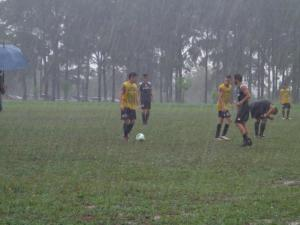 General Diaz training in Thursday's downpour - just the way they like it - Photo: Club General Diaz