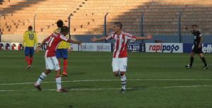 Medina celebrates his latest goal - Photo: Prensa Selección Paraguay de Fútbol