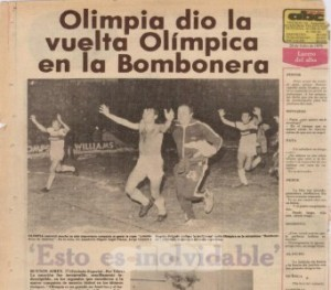 Olimpia winning the 1979 Libertadores - Photo: ABC.com.py