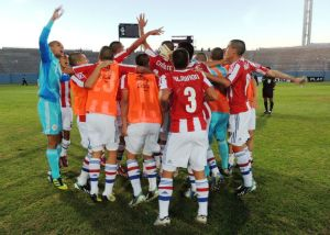 The U17s celebrate their passage to the final round - Photo: Prensa Selección Paraguay de Fútbol