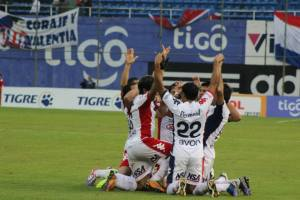 This week the player's have spoken about their spiritual unity, shown in the goal celebrations - Photo: Club Nacional Paraguay