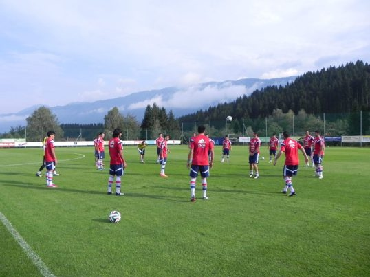 Training in Austria - Photo: Seleccion Paraguaya