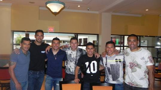 The Mexican connection, Paraguay's Mexican-based players. Photo: APF